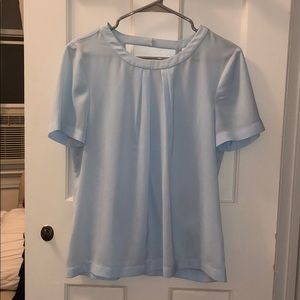 J. Crew Light Blue Wrap Top with Open Back